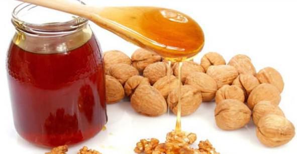 Фундук и мед от кашля