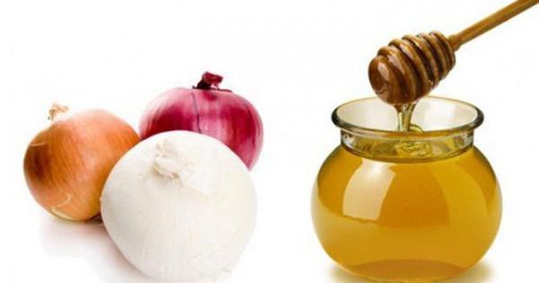 лук и мёд для носа