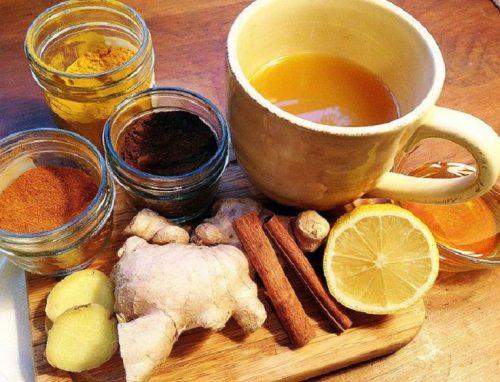 чай с имбирем, корицей и лимоном от простуды