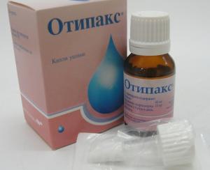 Капли Отипакс помогают быстро снять воспаление