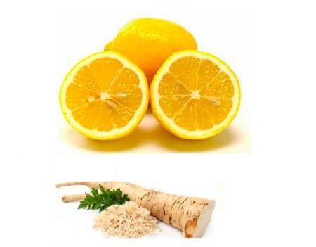 Корень хрена с лимоном для лечения бронхита