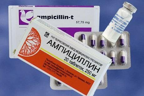 Ампициллин - антибиотик, назначаемый при синусите