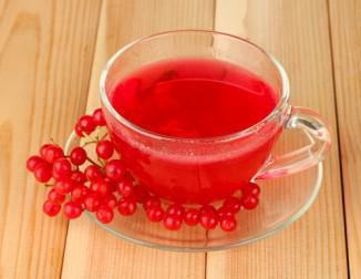 чай с ягодами калины от кашля