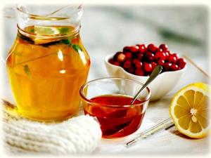 Помогает вывести мокроту брусничный сок с медом