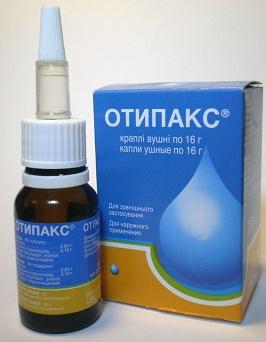 Для снятия боли применяют капли, например, Отипакс