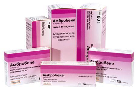 Препарат амбробене для лечения бронхита