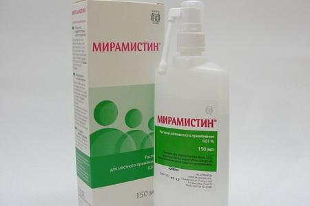 При насморке у грудничков часто назначают Мирамистин или Протаргол