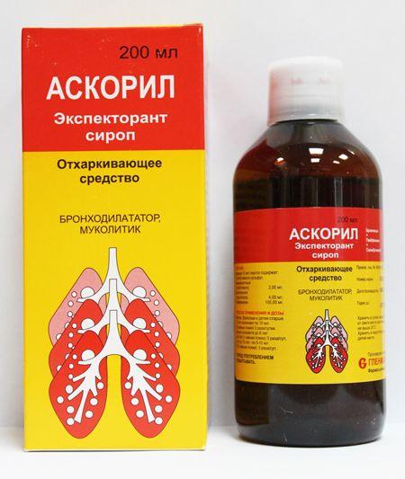 Препарат аскорил для лечения бронхита