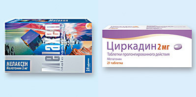 Препараты содержащие мелатонин — Мелаксен и Циркадин