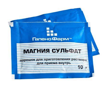 Препарат сульфат магния для ингаляций при бронхите