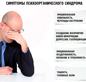 Симптомы органического поражения мозга