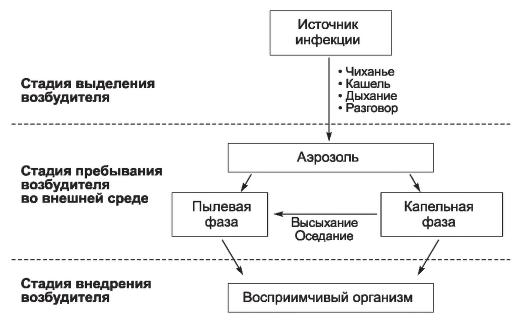 Аэрозольный механизм передачи инфекции